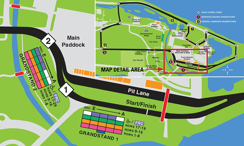 Grandstand Map