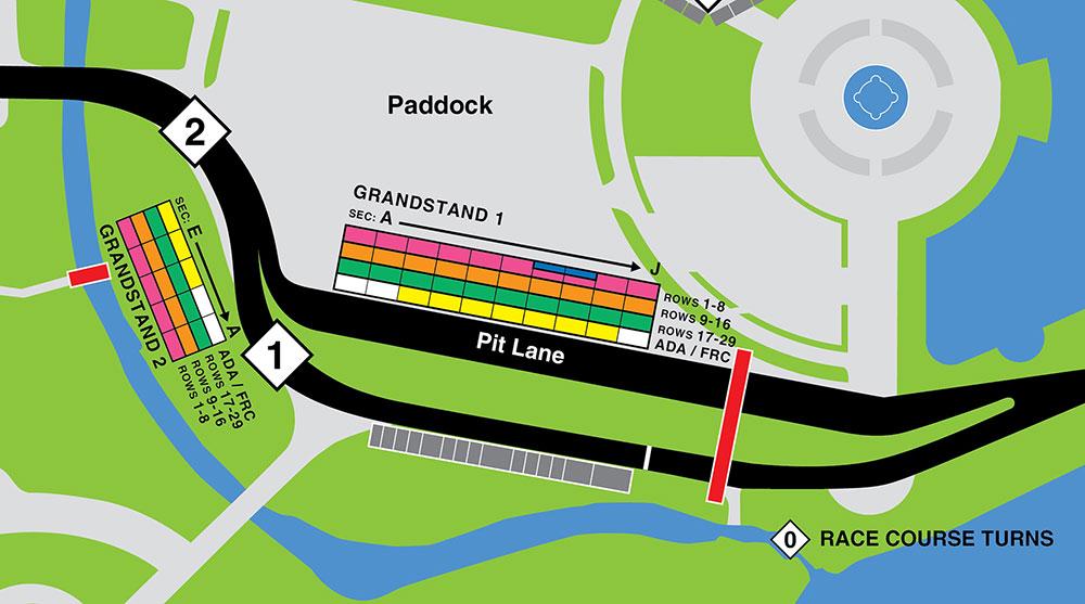 Grandstand Map
