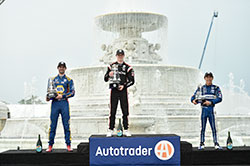 Newgarden Overcomes the Weather and the Competition to Earn First Detroit Win