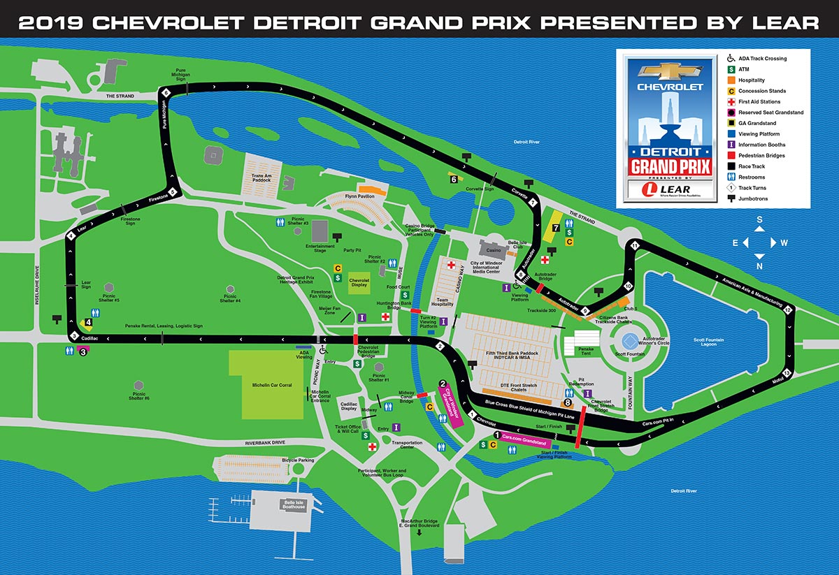 Detroit Map on