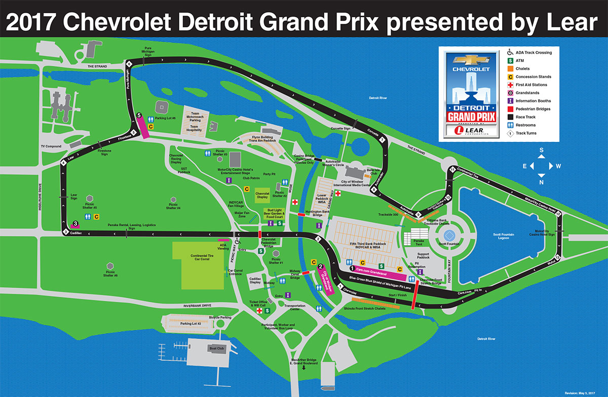 Chevrolet Detroit Grand Prix presented by Lear, June 1-3, 2018 ...