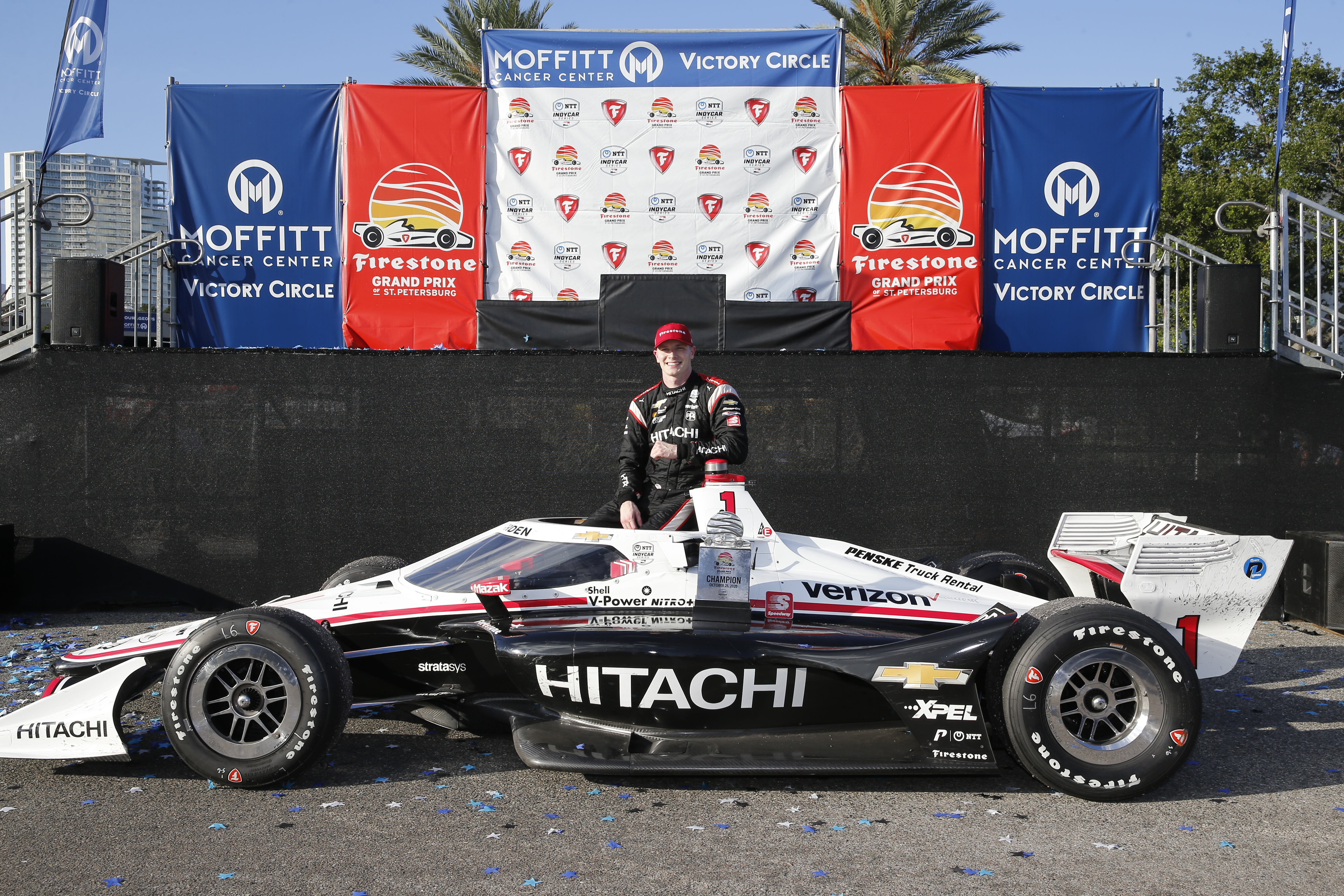 Newgarden Wins at St. Pete, Falls 16 Points Short of Champion Dixon in Dramatic Race