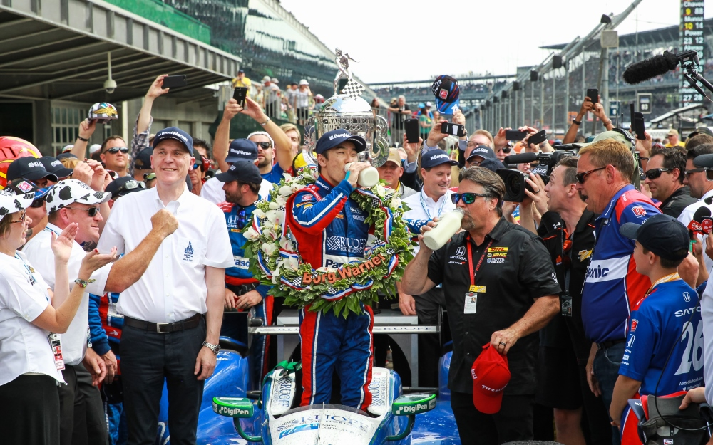 Sato Etches Name Into Indianapolis 500 Record Book with Win