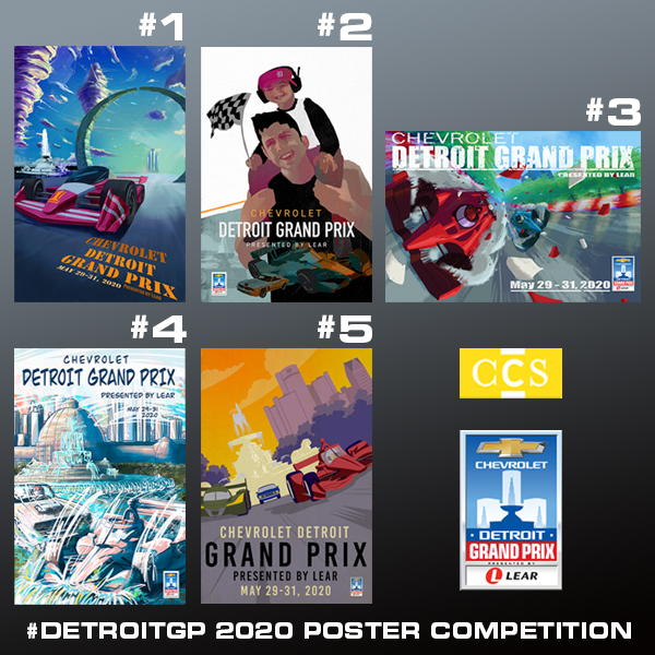Chevrolet Detroit Grand Prix Presented by Lear to Host Official Poster Competition Judging on Wednesday