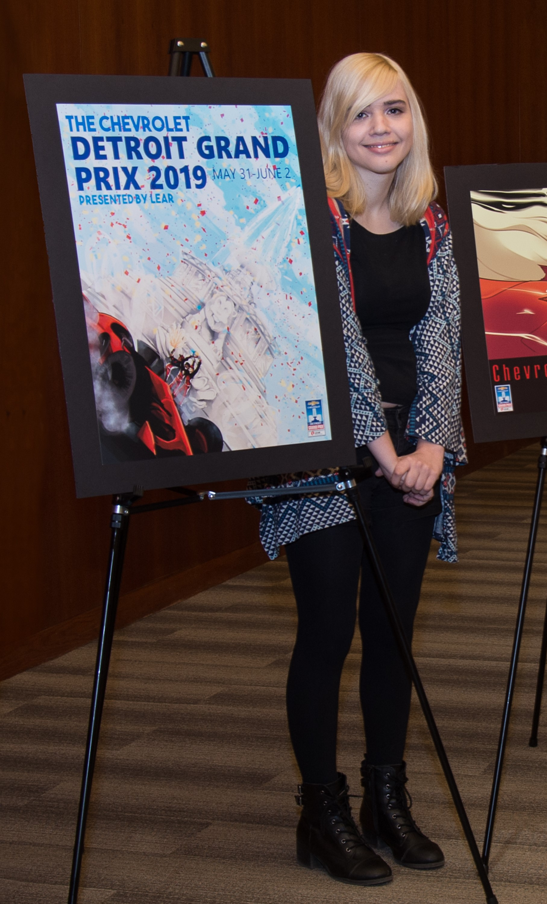 College for Creative Studies Student Allie Fedak Wins 2019 Chevrolet Detroit Grand Prix presented by Lear Official Poster Competition