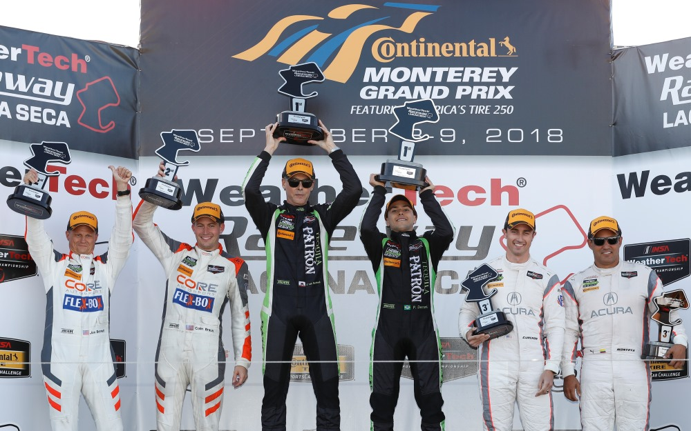 Derani, van Overbeek Come From Behind to Win America's Tire 250 in No. 22 Tequila Patron Nissan