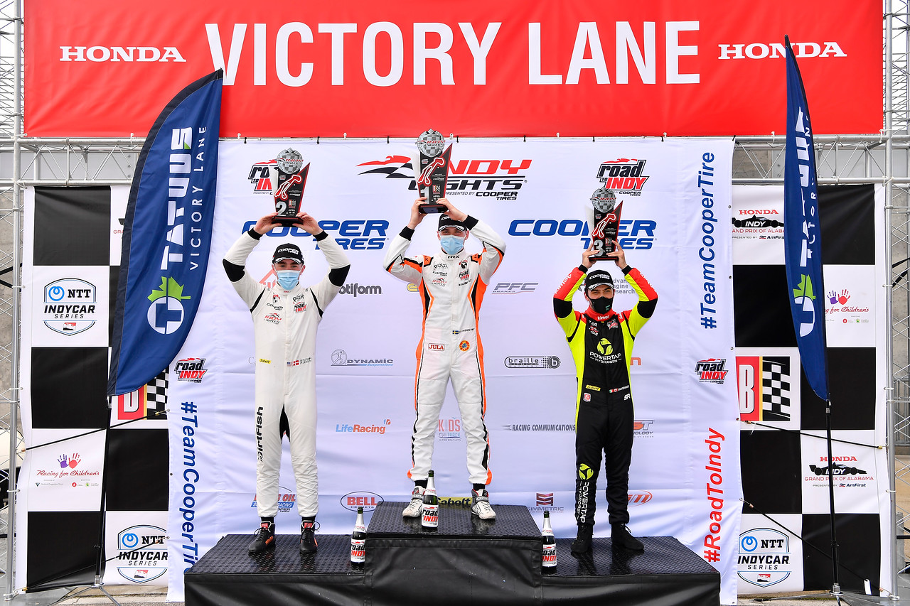 Lundqvist Victorious on the Return of Indy Lights in Alabama