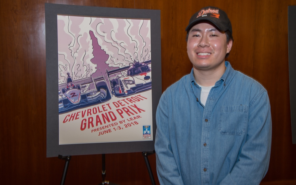 College for Creative Studies Student Joe Dao Selected as Winner of the Grand Prix Poster Contest