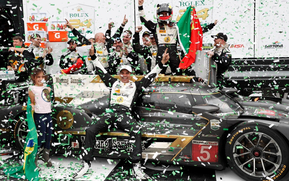 Mustang Sampling Cadillac Covers Longest Distance in Rolex 24 History En Route to Victory