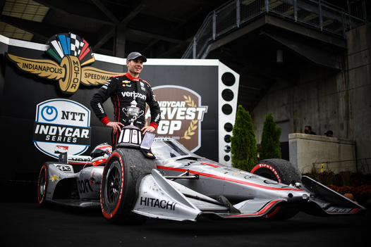 Power Puts On Powerful Display To Win INDYCAR Harvest GP Race 2