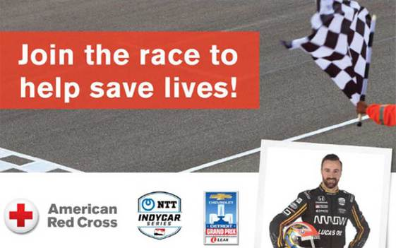 Join James Hinchcliffe at the Race to Save Lives Blood Drive in Detroit