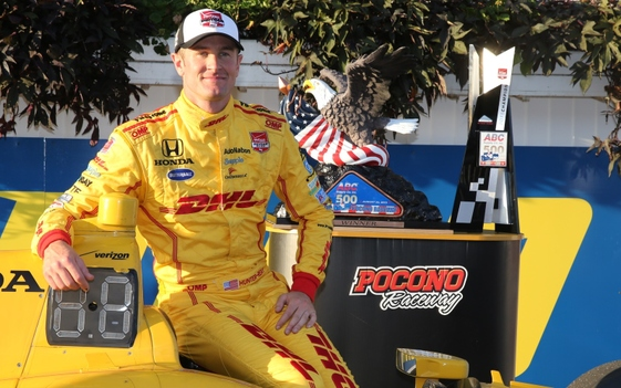 Hunter-Reay wins subdued ABC Supply 500 at Pocono Raceway