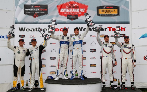 Ford GT Co-Drivers Hand, Mueller Play Spoiler in GTLM Win at Lime Rock Park