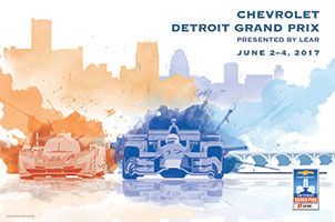 2017 Chevrolet Detroit Grand Prix presented by Lear Poster