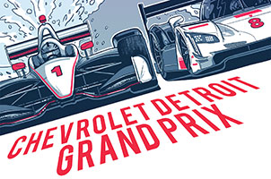 2018 Chevrolet Detroit Grand Prix presented by Lear Poster
