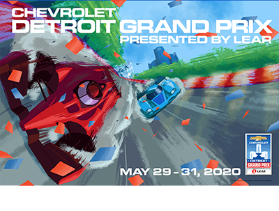 2020 Chevrolet Detroit Grand Prix presented by Lear Poster